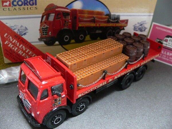 1 50 CORGI foden flatbed with barils & chains scottish U. Newcastle Go 97317