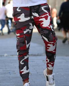 Pantalones Para Hombre De Vestir Elegante Moda Pantalon Deportivo Cargo Ropa Ebay