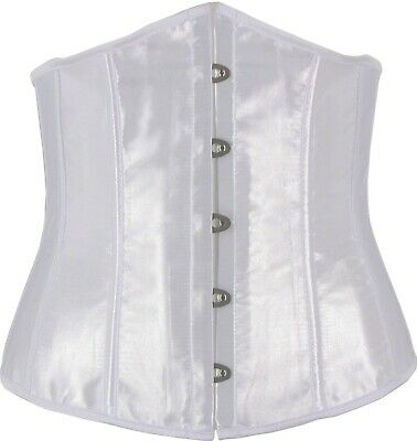 Green Satin Corset Cincher Waist Reduction Tuxedo Cosplay Formal Costume