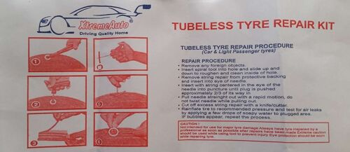Universal Tubeless Tyre Tire Puncture Repair Kit Toyota Proace 2013-2016