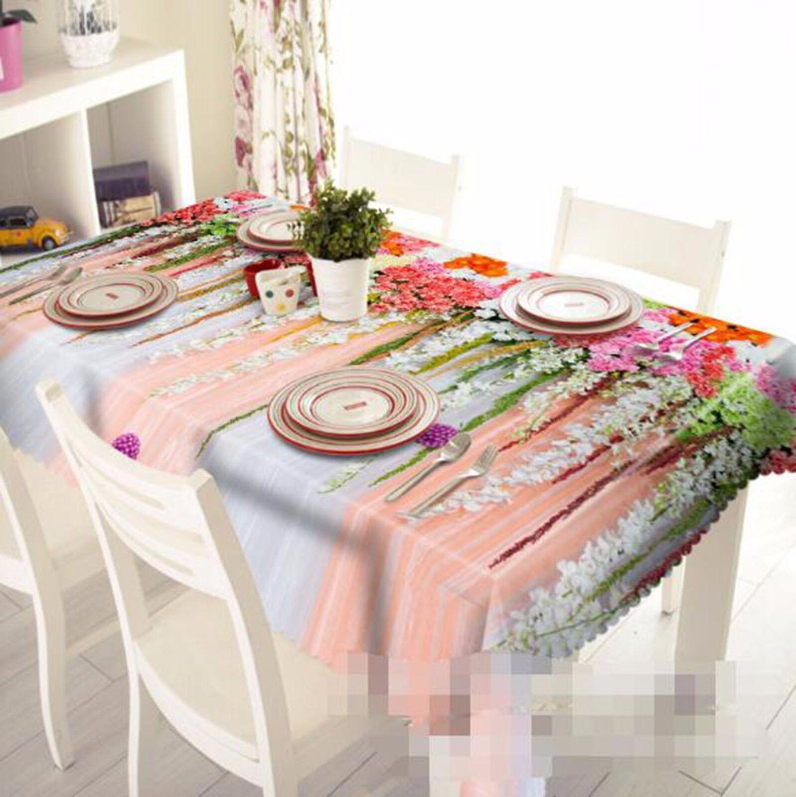 3D Mur pétales Nappe Table Cover Cloth fête d'anniversaire AJ papier peint Royaume-Uni Citron