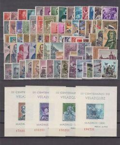 ANO-1961-NUEVO-SIN-FIJASELLOS-ESPANA-EDIFIL-1326-1405-CON-HOJITAS