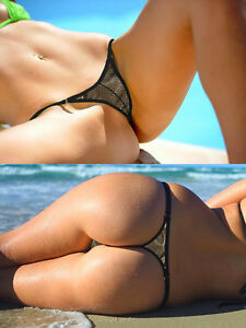 Bikini camel thong toe