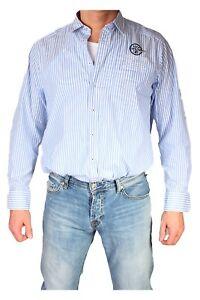 Aufrichtig Marvelis Freizeithemd 1632-64-11 Langarm Streifen Blue