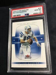 2004 Fleer Genuine #43 Peyton Manning  PSA 10 GEM MINT Colts
