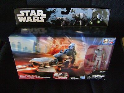Disney Hasbro Star Wars  AT-DP Pilot Fig Imperial Speeder Vehicle Plane Set NIB