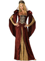 Adult Renaissance Maiden Fancy Dress Costume Princess Medieval Tudor Juliet BN