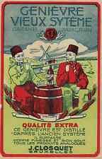 """""""GENIEVRE VIEUX SYTEME (J. CLOSQUET)"""" Etiquette-chromo originale début 1900"""