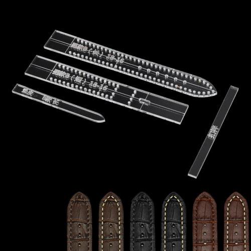 Hommes Modèle Acrylique Moule Craft Outil Bracelet Montre Cuir moule bande Stencil