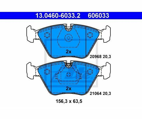ATE Brake Pad Set, disc brake 13.0460-6033.2