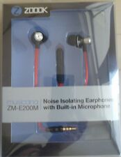 Original Zoook 3.5MM Jack Mic+Volume Key HANDSFREE Earphone for iPhone 4G,4S,5
