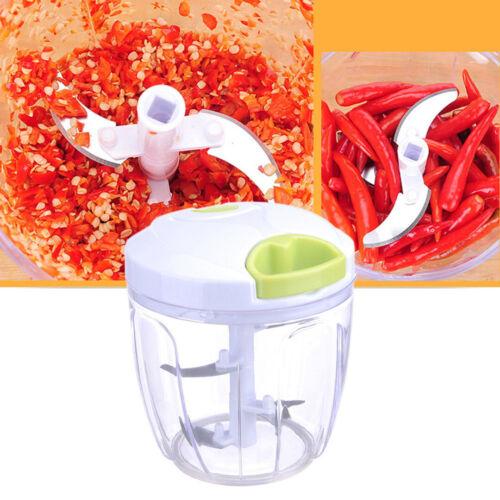 Vegetable Onion Garlic Food Quick Chopper Slicer Dicer Cutter Peeler Shredder US