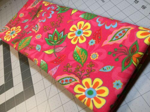 1 New Standard Size Flannel Handmade Pillowcase Vivid Flowers