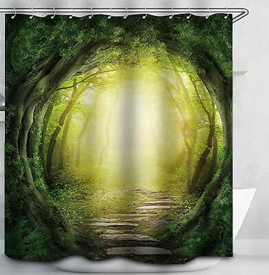 Enchanted Forest Path Shower Curtain Magical Trees