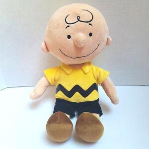 "Charlie Brown Peanuts Kohls Cares Plush Toy Doll Peanuts Yellow Shirt 9/"" Gift"