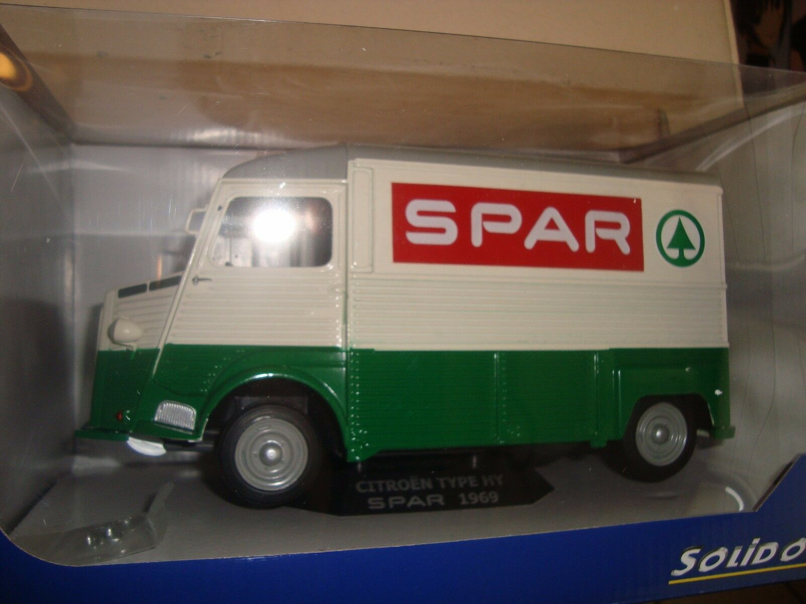 Citroën Tube HY 1969 GROCERY SPAR SOLIDO SO 1850015 Scale 1 18 nib