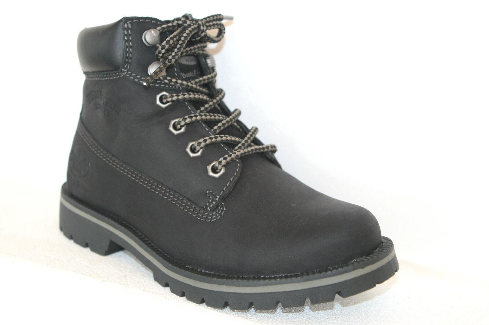 Dockers Wanderschuhe Stiefel Stiefel Damen Jungen Mädchen Leder schwarz