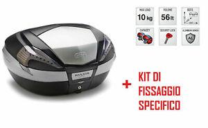 V56nt Bauletto Posteriore 56 L + Attacchi Per Honda Cb 1300 S 2010-2015