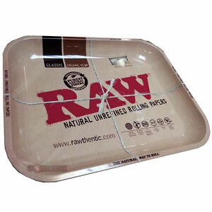 Raw 1970 S Style Large Metal Rolling Tray Plus Freebies
