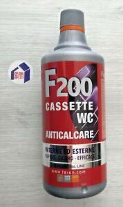 ACIDO ANTICALCARE F200 TRATTAMENTO PROFESSIONALE SCIOGLI CALCARE CASSETTE WC