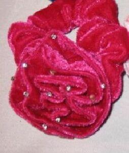 hot pink velvet scrunchie REG