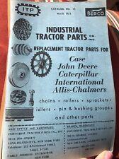 Vintage Industrial Tractor Parts Company Brochure John Deere Catapillar Etc