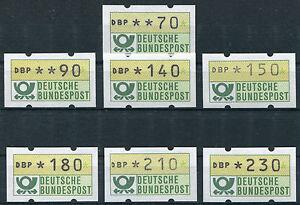 Bund-ATM-1-1-postfrisch-BRD-Automatenmarken-230-210-180-150-140-90-70-Pfennig
