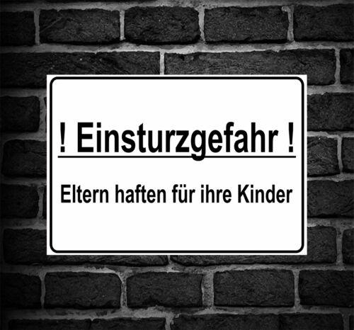 """Schild Hinweisschild Hinweis /""""Einsturzgefahr/"""" Einsturz Gefahr Achtung Vorsicht"""