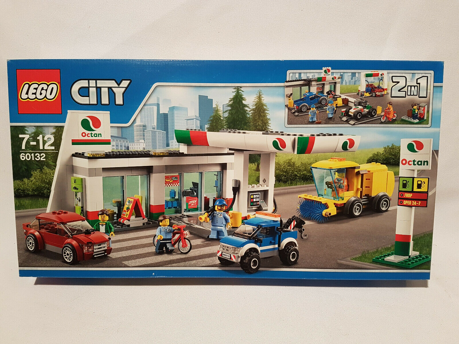 LEGO 60132 City La Station Essence NEUF, SCELLE