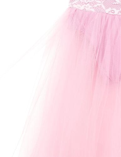Girls Lyrical Ballet Dance Leotard Dress Gym Long Maxi Skirt Dance Wear Costume