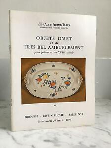 Catalogue Di Vendita Tajan Ader Picard Articolo Arte E Molto Bel Ameublement1979