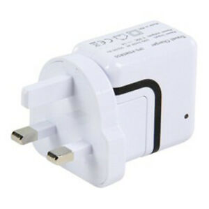 iPod-Mp3-Camera-Device-DUAL-USB-5v-World-Mains-Charger