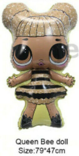 QUEEN BEE SURPRISE LOL DOLL LARGE BALLOON BIRTHDAY PARTY DECORATION HELIUM FOIL