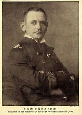 """Fregattenkapitän Nerger Kommandant des Kaperfahrers """"Wolf"""" 1918 *  WW1"""