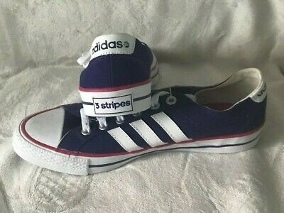 Adidas Neo 3 Stripes Lo Purple Canvas Trainers (UK Womens Size 7.5)