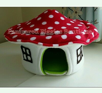 GUINEA PIG TOADSTOOL BED MUSHROOM HOUSE ALSO SUIT HEDGEHOG FERRET RAT
