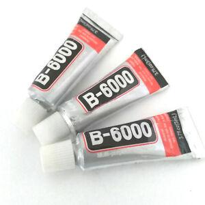 LOT-de-3-TUBES-DE-COLLE-3ML-pour-BIJOUX-B6000-TRANSPARENT-CABOCHONS-EMBOUTS