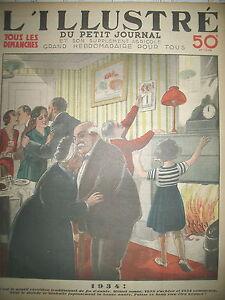 TRADITION-JOUR-DE-L-039-AN-REVEILLON-MINUIT-LES-BONS-VOEUX-LE-PETIT-JOURNAL-1933