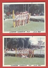 2 Rare 1967 CYPRESS GARDEN Photos w/PRETTY GIRLS IN SWIMSUITS Water Skiers