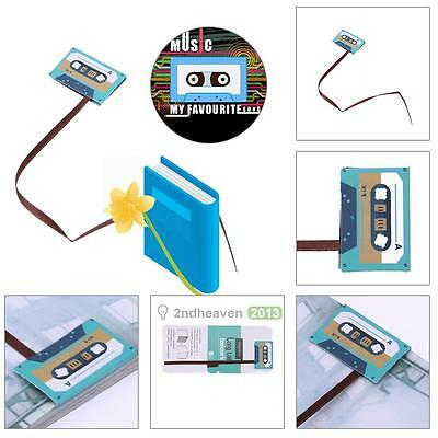 New School Supplies Bookmarks Cute Paper Clip Office Books Reading Green Tape