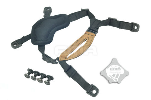 Tactical Airsoft Suspension System Military Chin Strap for FMA Helmet DE//BK