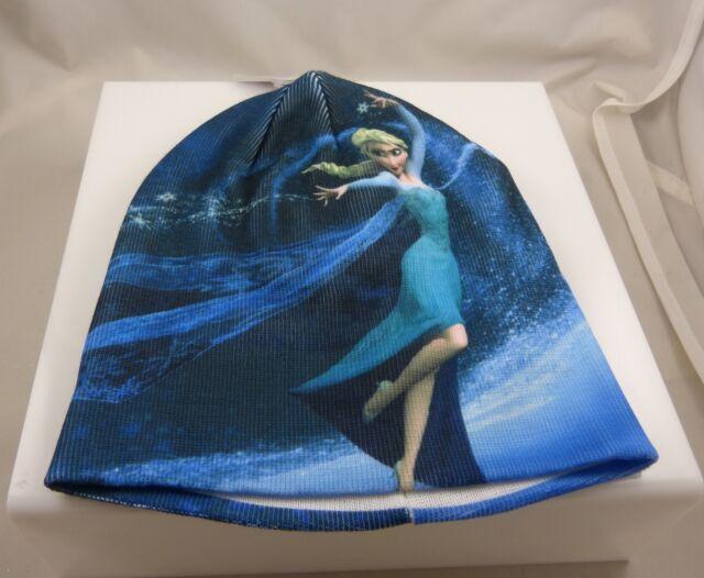 Disney frozen elsa in her famous stance winter warm blues  Hat cap beanie  xmas