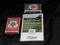 Vintage 1993 Ryder Cup Belfry England Course Map Booklet Titleist Golf Ball