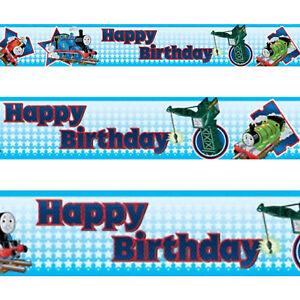 4-5m-Thomas-The-Tank-Engine-Happy-Birthday-Children-039-s-Party-Banner-Decoration