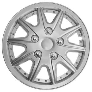 Details about TopTech Revolution 13 Inch Wheel Trim Set Silver Set of 4 Hub Caps Covers