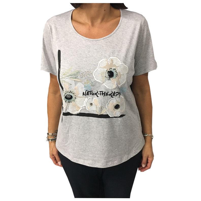 MARINA SPORT by Marina Rinaldi T-Shirt grau mod WALDO 100% Baumwolle