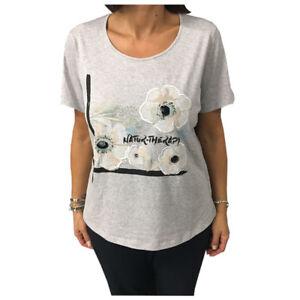 Details about MARINA SPORT by MARINA Rinaldi t-shirt grey mod WALDO 100%  cotton