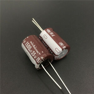 5pcs-1500uF-35V-16x25mm-Nichicon-PW-Low-Impedance-Long-Life-Capacitor