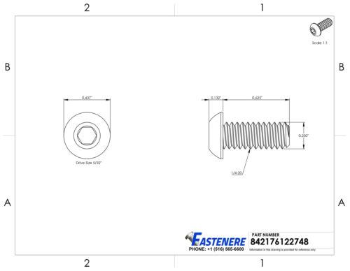 x 20mm Marine Grade Stainless SS 316 Screw 6mm Qty 10 Button Head Socket M6