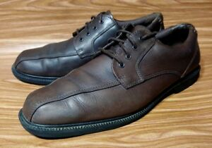 Image is loading ROCKPORT-CAPITAL-APM77785-OXFORDS-LACE-UP-BROWN-LEATHER-